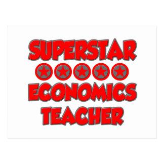 Superstar Economics Teacher Postcard