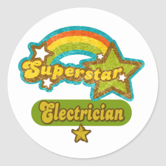 Superstar Electrician Classic Round Sticker