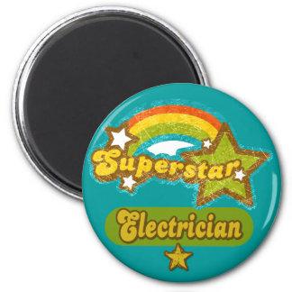 Superstar Electrician Fridge Magnet