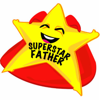 superstar father funny father's day  sculpture! standing photo sculpture