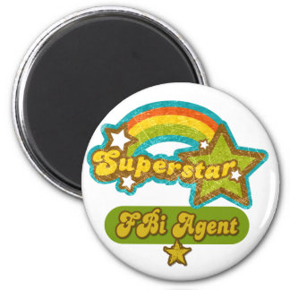 Superstar FBI Agent 2 Inch Round Magnet