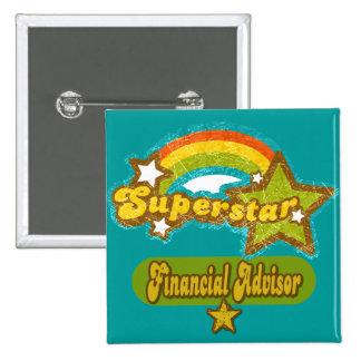 Superstar Financial Advisor 2 Inch Square Button