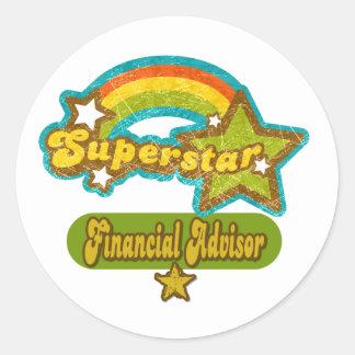 Superstar Financial Advisor Classic Round Sticker