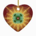 Superstar - Fractal Art Ceramic Ornament