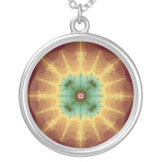 Superstar - Fractal Art Silver Plated Necklace
