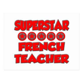 Superstar French Teacher Post Cards