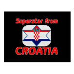 Superstar from Croatia Postcard