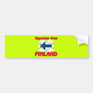 Superstar from Finland Bumper Sticker