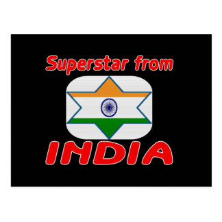 Superstar from India Postcard