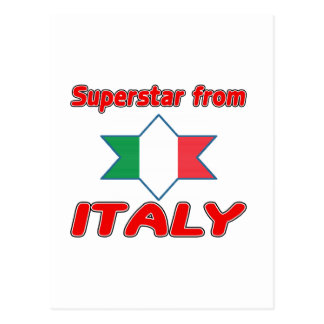 Superstar from Italy Postcard