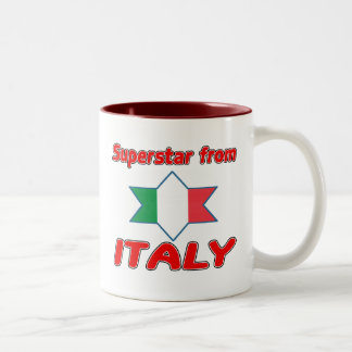 Superstar from Italy Two-Tone Coffee Mug