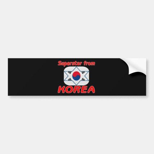 Superstar from Korea Car Bumper Sticker