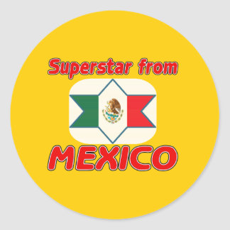 Superstar from Mexico Classic Round Sticker