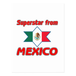 Superstar from Mexico Postcard