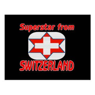 Superstar from Switzerland Post Card