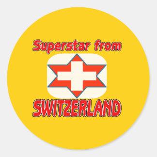 Superstar from Switzerland Stickers