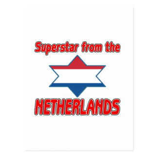 Superstar from the Netherlands Postcard