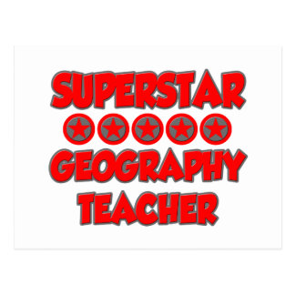 Superstar Geography Teacher Postcard