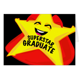 superstar grad humorous graduation card! card