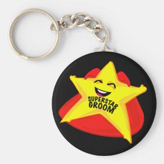 superstar groom funny keychain