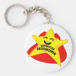 superstar groomsmen funny keychain