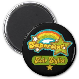 Superstar Hair Stylist 2 Inch Round Magnet