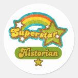 Superstar Historian Classic Round Sticker