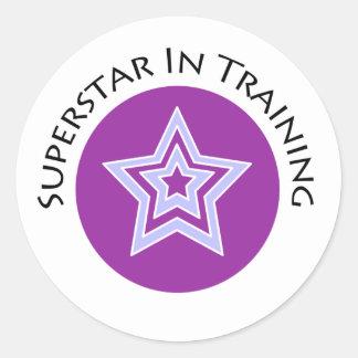 Superstar in Training Classic Round Sticker