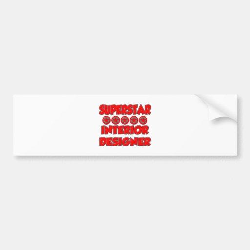 Superstar Interior Designer Bumper Sticker