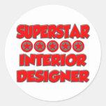 Superstar Interior Designer Round Sticker