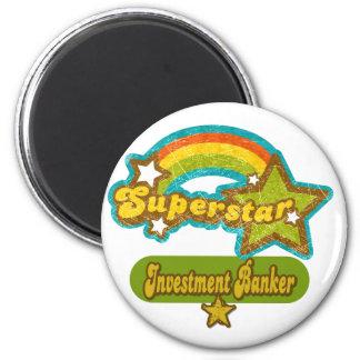 Superstar Investment Banker Fridge Magnets