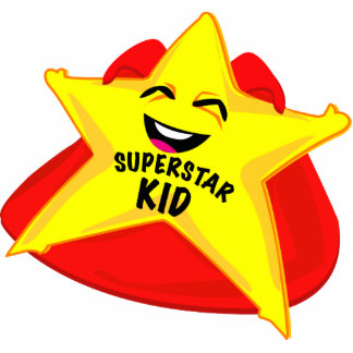 superstar kid funny photo  sculpture! cut outs