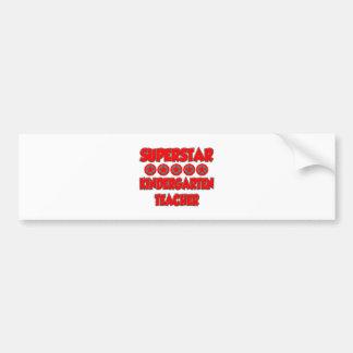 Superstar Kindergarten Teacher Bumper Sticker