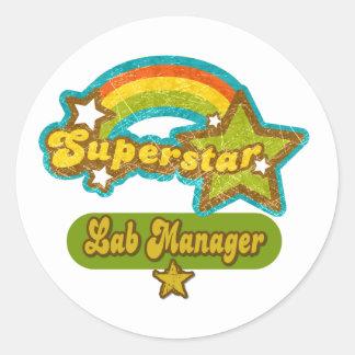 Superstar Lab Manager Classic Round Sticker