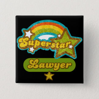 Superstar Lawyer Pinback Button
