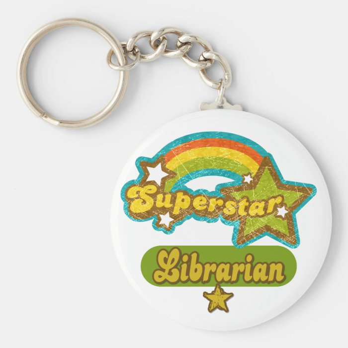 Superstar Librarian Keychain