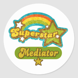 Superstar Mediator Classic Round Sticker