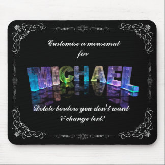 Superstar Michael -  Name in Lights (Photograph) Mouse Pad