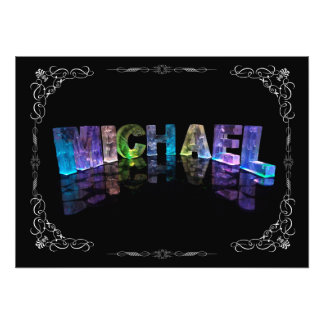 Superstar Michael -  Name in Lights (Photograph) Photo Print