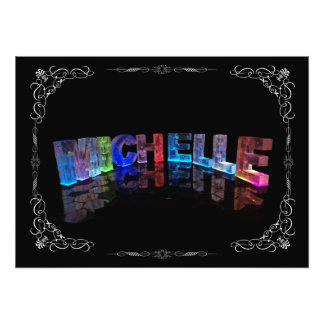 Superstar Michelle -  Name in Lights (Photograph) Photo Print