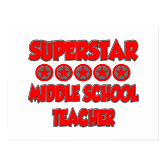 Superstar Middle School Teacher Post Cards