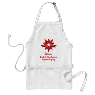 Superstar Mom and your name appreciation red apron