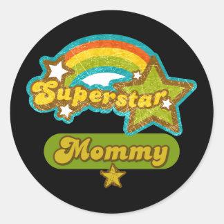 SuperStar Mommy Classic Round Sticker