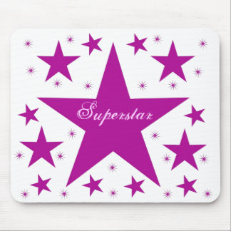 Superstar Mousepad, Purple Mouse Pad