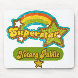 Superstar Notary Public Mouse Pad