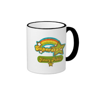 Superstar Notary Public Ringer Coffee Mug