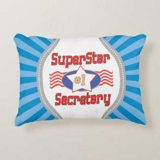 Superstar Number One Secretary Accent Pillow