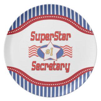 Superstar Number One Secretary Dinner Plate