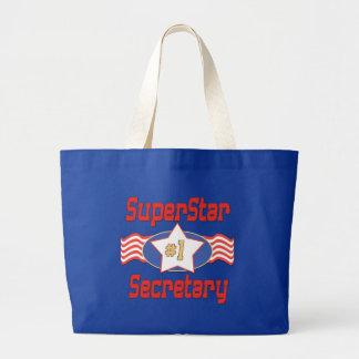 Superstar Number One Secretary Large Tote Bag