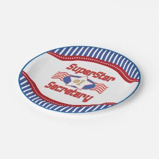 Superstar Number One Secretary Paper Plate